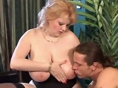 Fat mature whore spoils amateur man