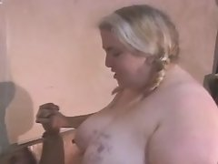 Hot BBW angel takes up huge hummer