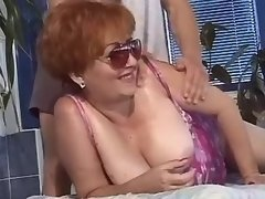Magnificent mature seduces masseur
