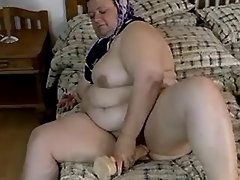 Mature fatty fucks and gets hot cum