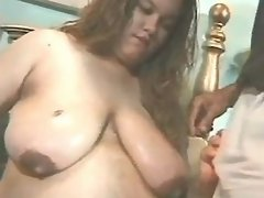 Chubby sweetie sucks and titfucks