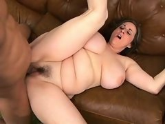 Chubby titty mature screwed on sofa