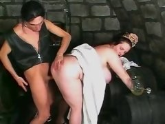 Busty plump chick screwed in cellar
