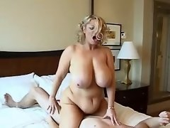 Curvy honey with huge boobs screwed