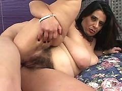 Beautiful brunette BBW gets facial
