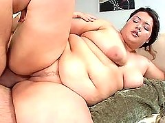 Asian fatty gets creampie after sex