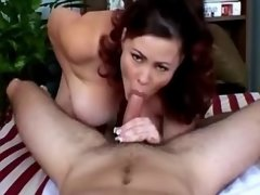 Lustful housewife w big tits fucked
