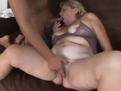 Lusty old BBW sucks appetizing cock