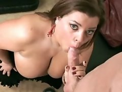 Perky BBW gets screwed and cumload
