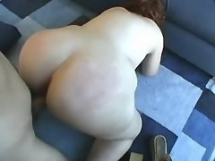 Plump cutie gets fuck and facial